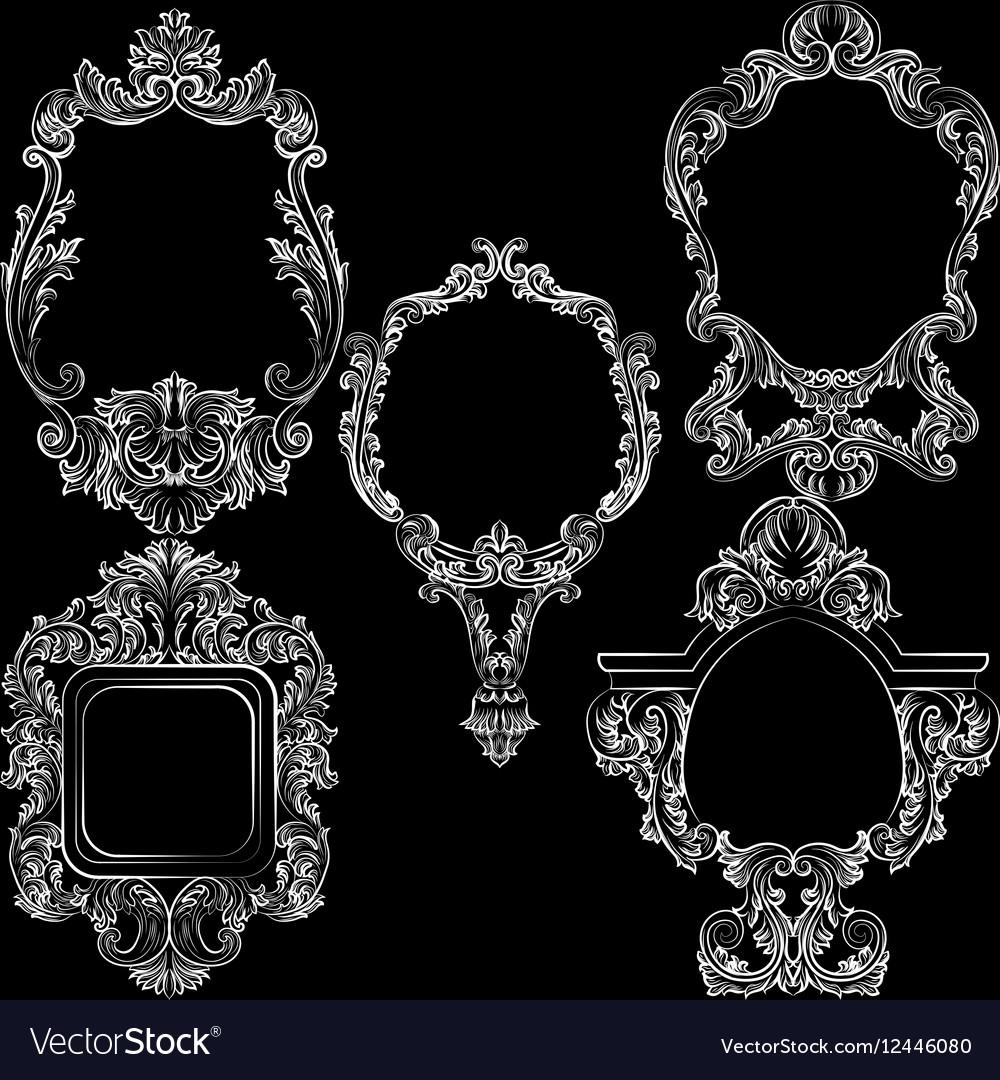 Set of Baroque Vintage Decoration Frames
