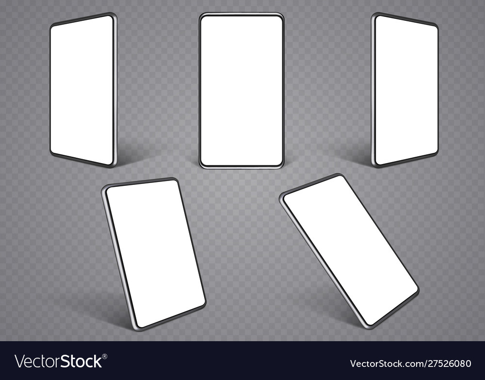 Smartphone layouts from different angles mobile