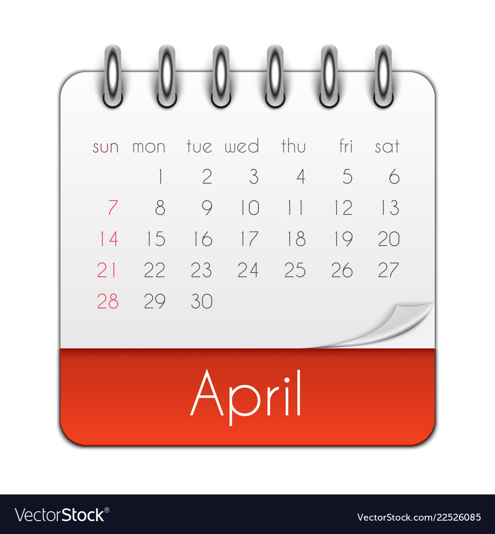 April 2019 Calendar Leaf Template
