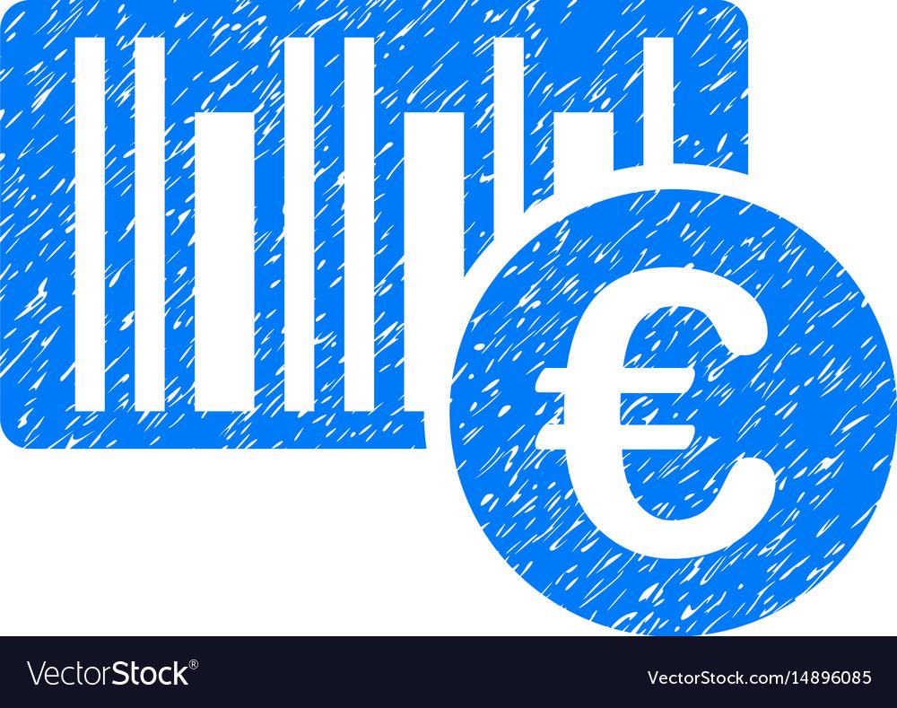 Euro bar code price grunge icon