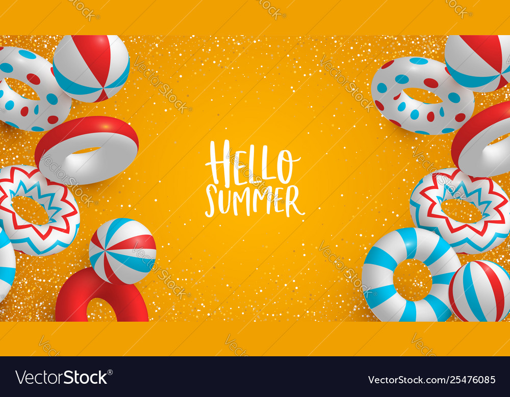 Holiday summer background 3d lifesavers and