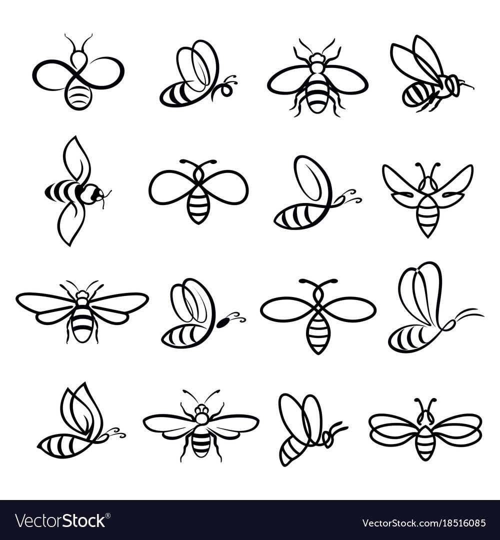 Honey bee icons