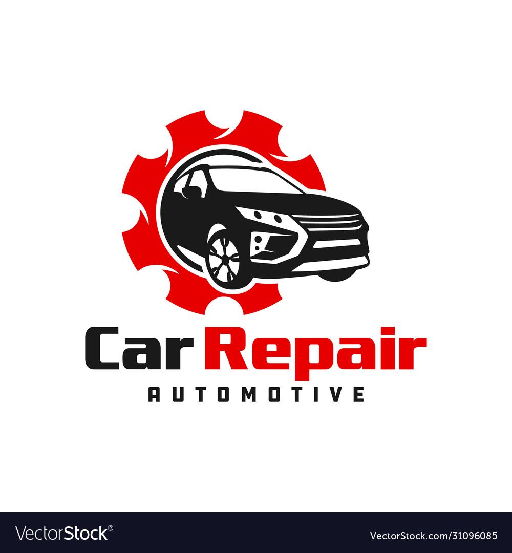 Modern Car Repair Logo Design Royalty Free Vector Image