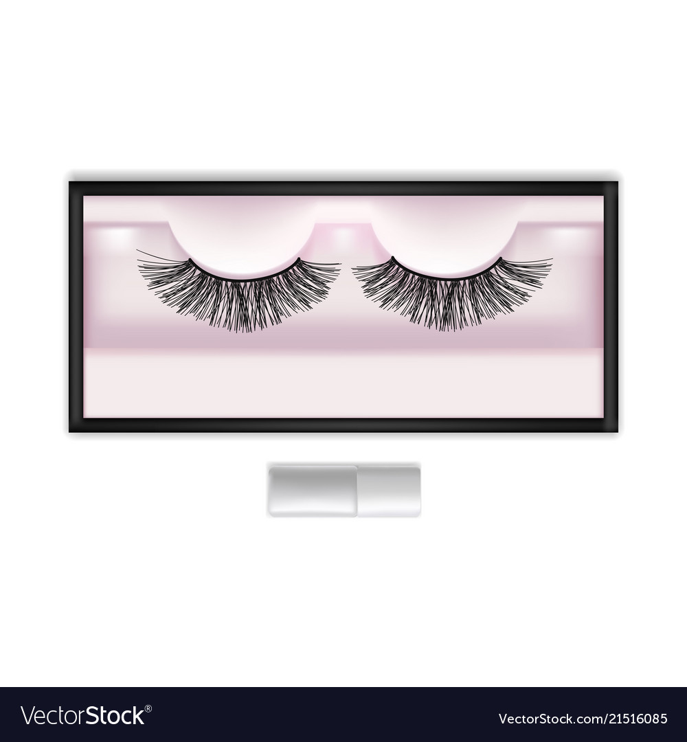 Realistic detailed 3d false eyelashes in package