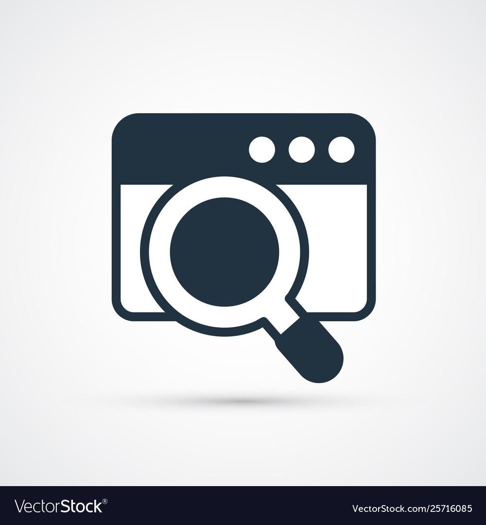 Search window trendy symbol trendy