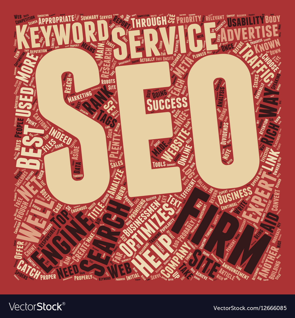 SEO Firms Help For Businessmen s Online text