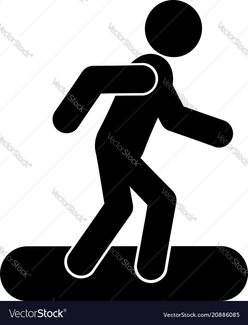 Snowboard glyph icon