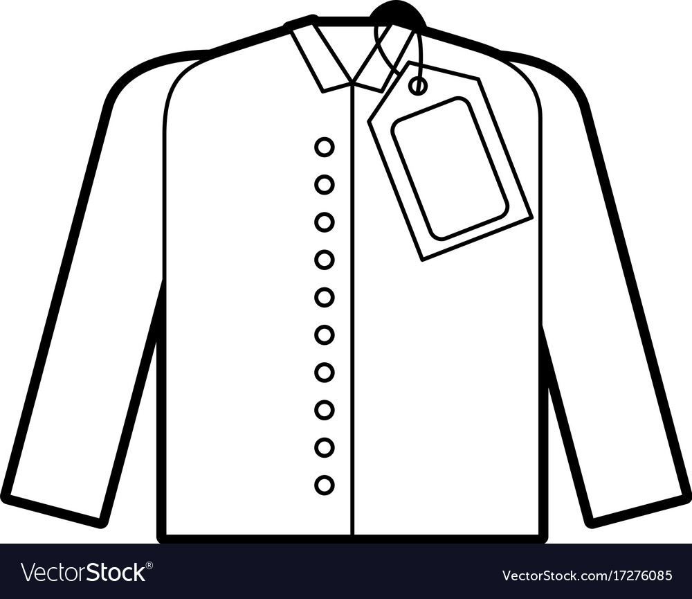 t shirt design template clothes with price tag vector image