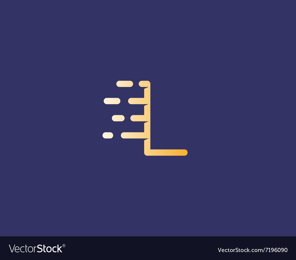 Abstract letter L logo design template Dynamic