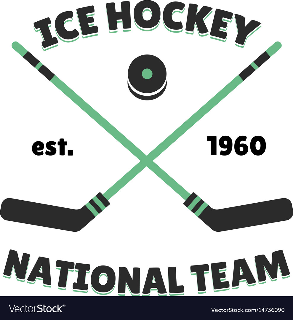 Hockey label template for sport team with