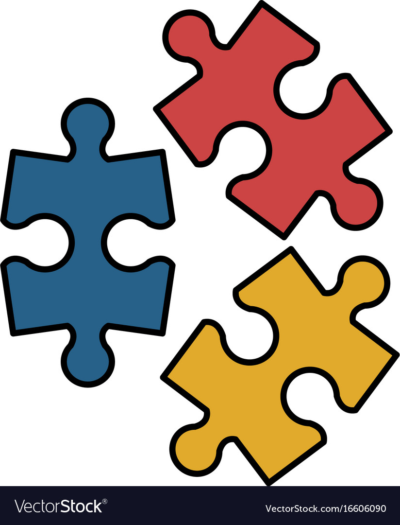 puzzle pieces icon image royalty free vector image rh vectorstock com puzzle pieces vector download puzzle pieces vector png