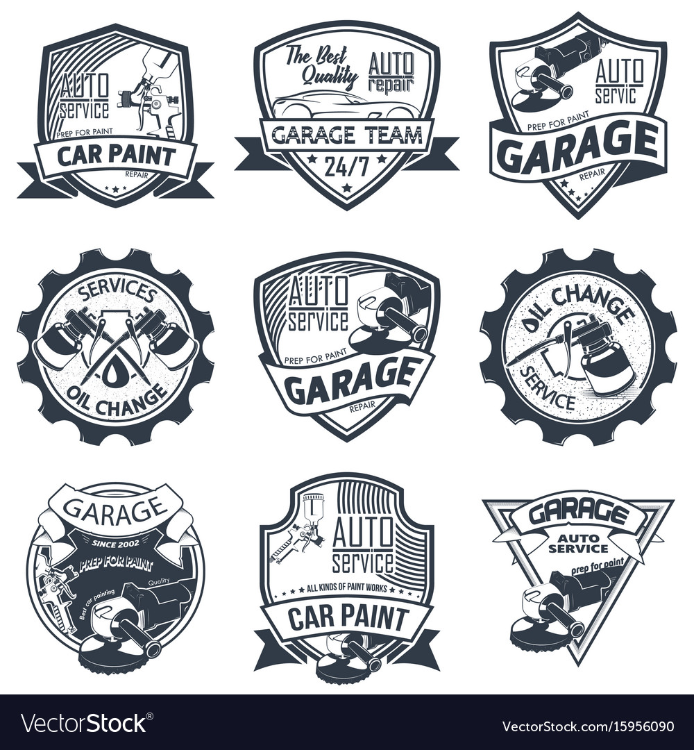 Set of nine auto repair
