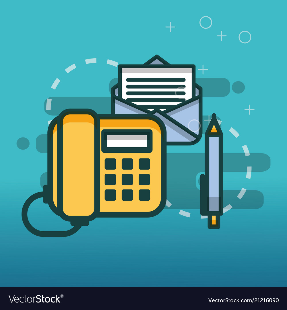 Telephone email communication pen office