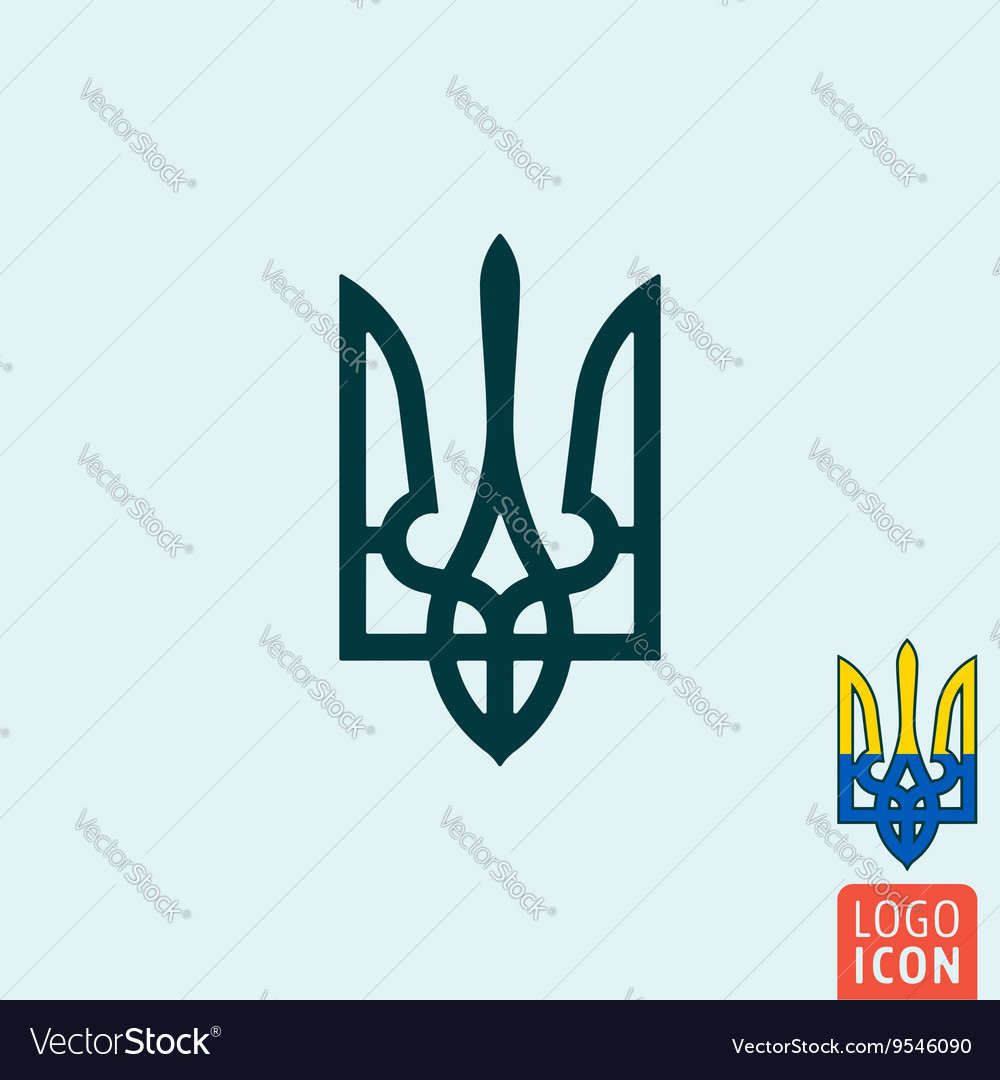 Trident icon isolated vector image