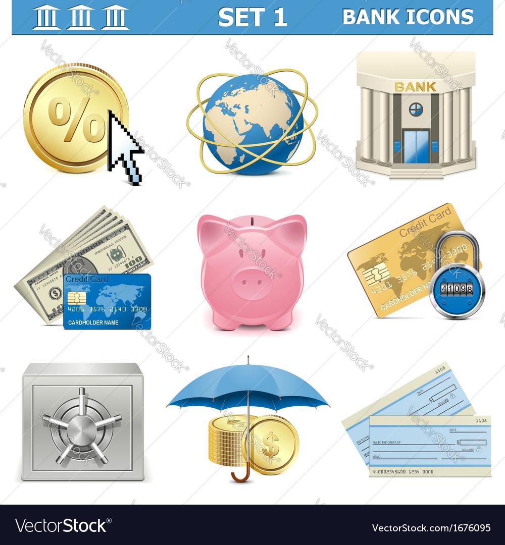 Bank Icons Set 1