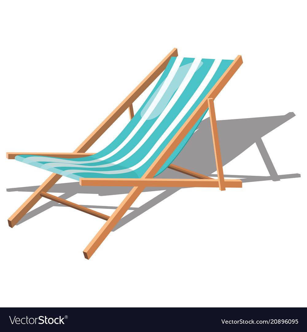 Cartoon chaise longue for the beach