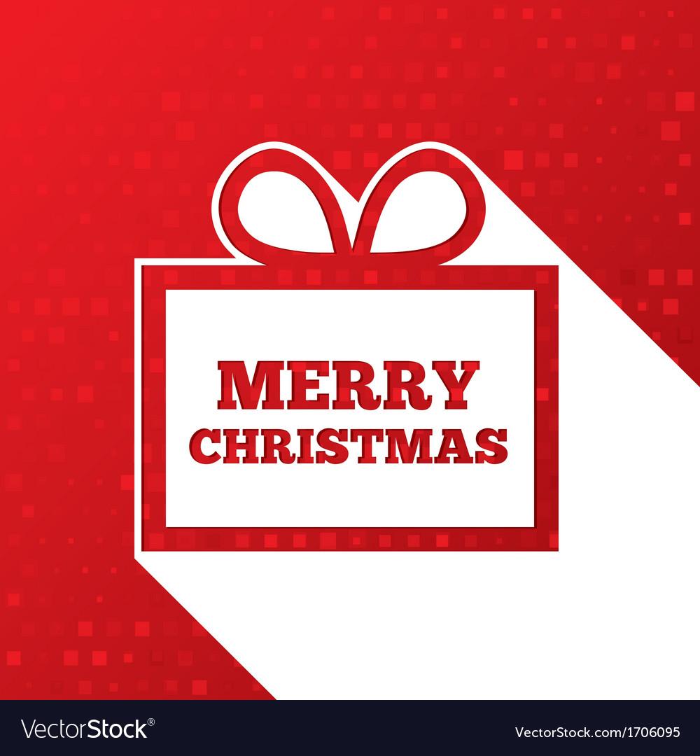 Christmas greetings card Christmas paper gift box