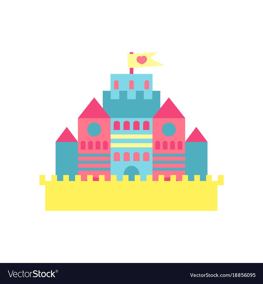 Colorful princess castle cartoon