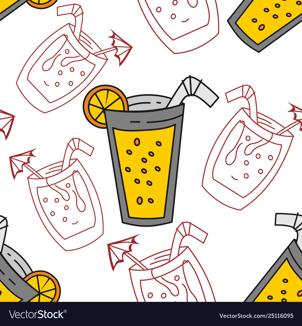 Drinking glass pattern seamless template