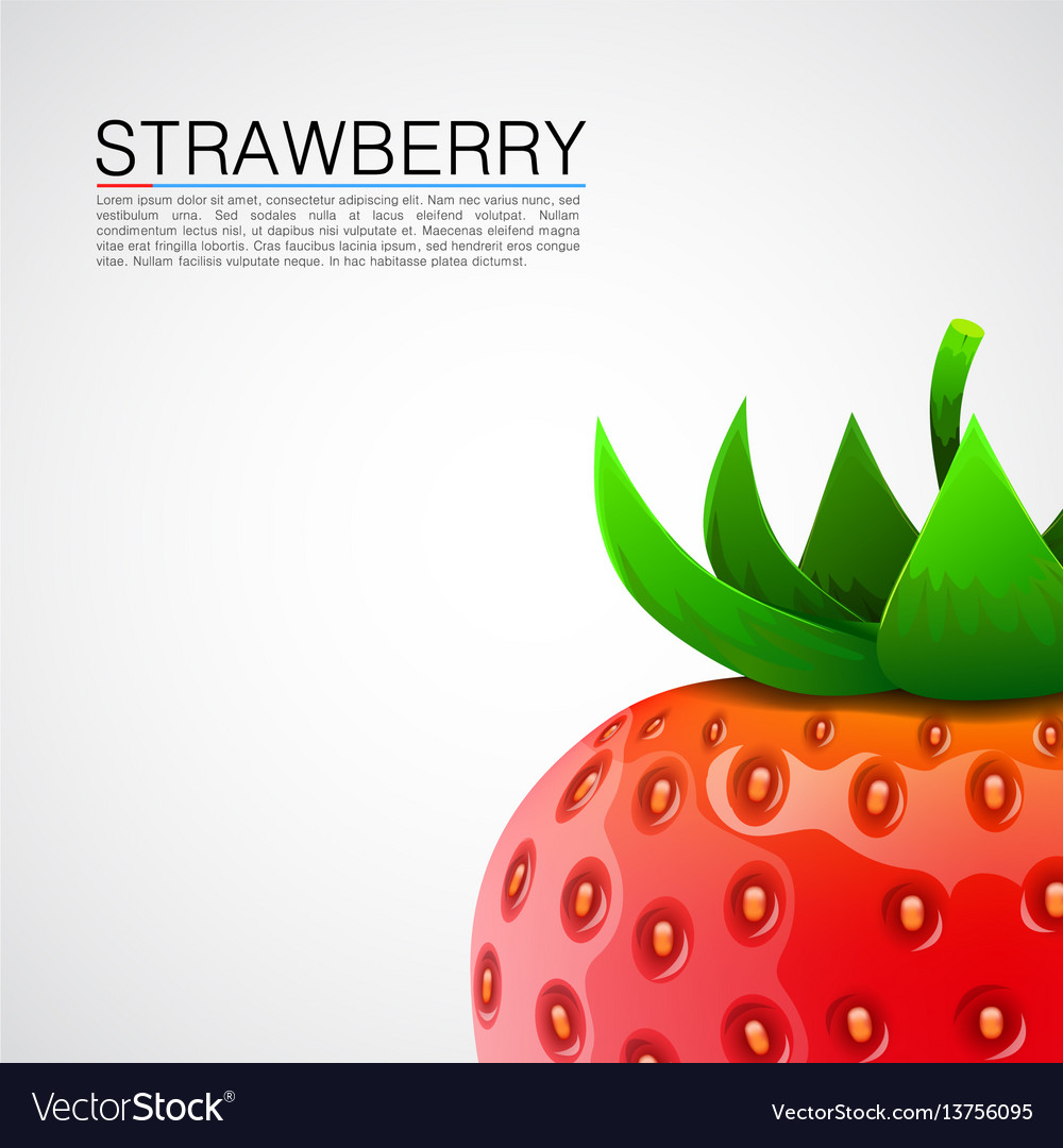 Fresh realistic strawberry background