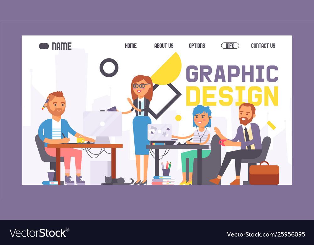 Graphic design banner web design