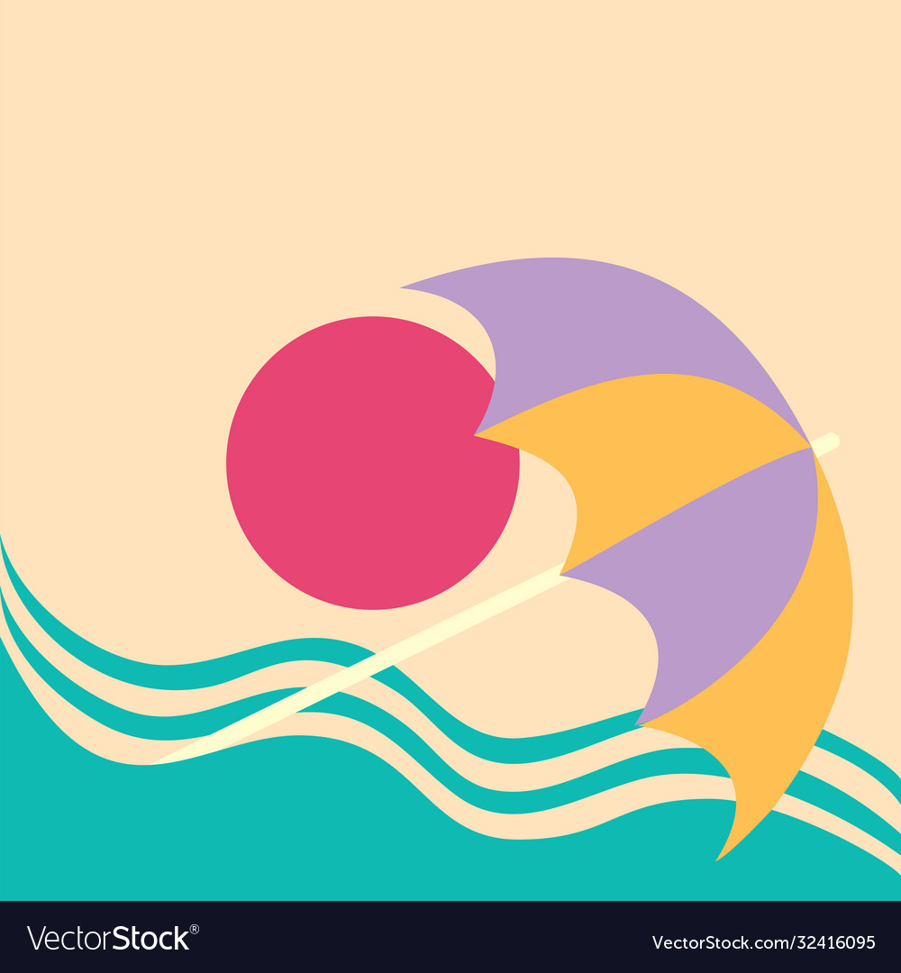 Summer vacation poster concept water slide