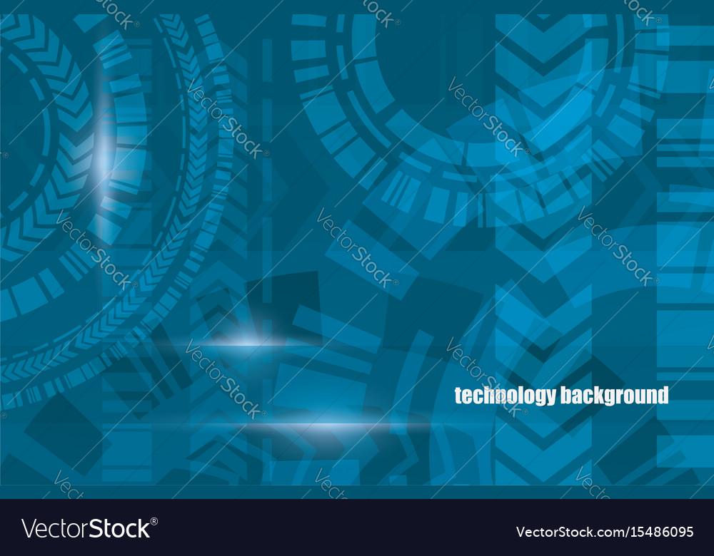 Technocal blue background