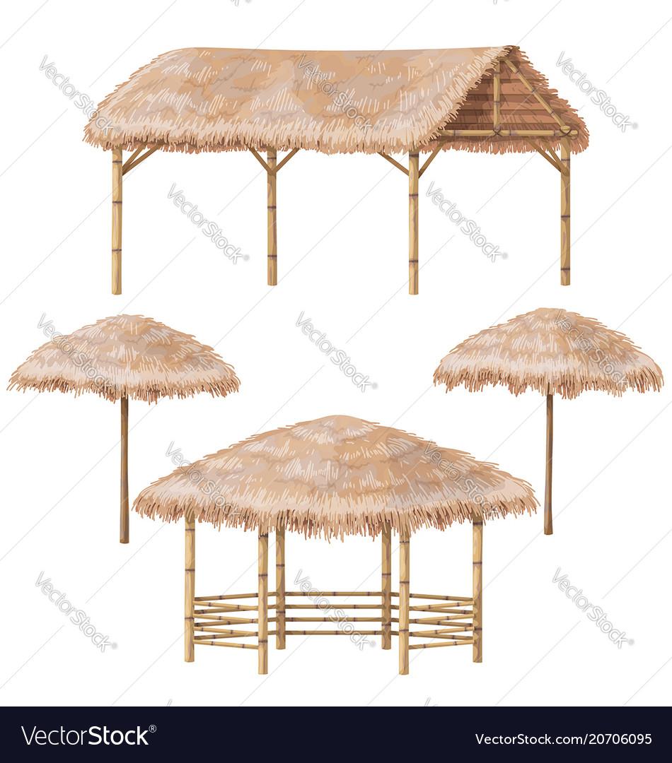 Tropic gazebo and parasol set