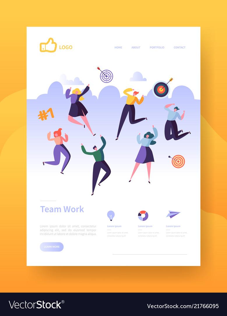 Website development landing page template poster
