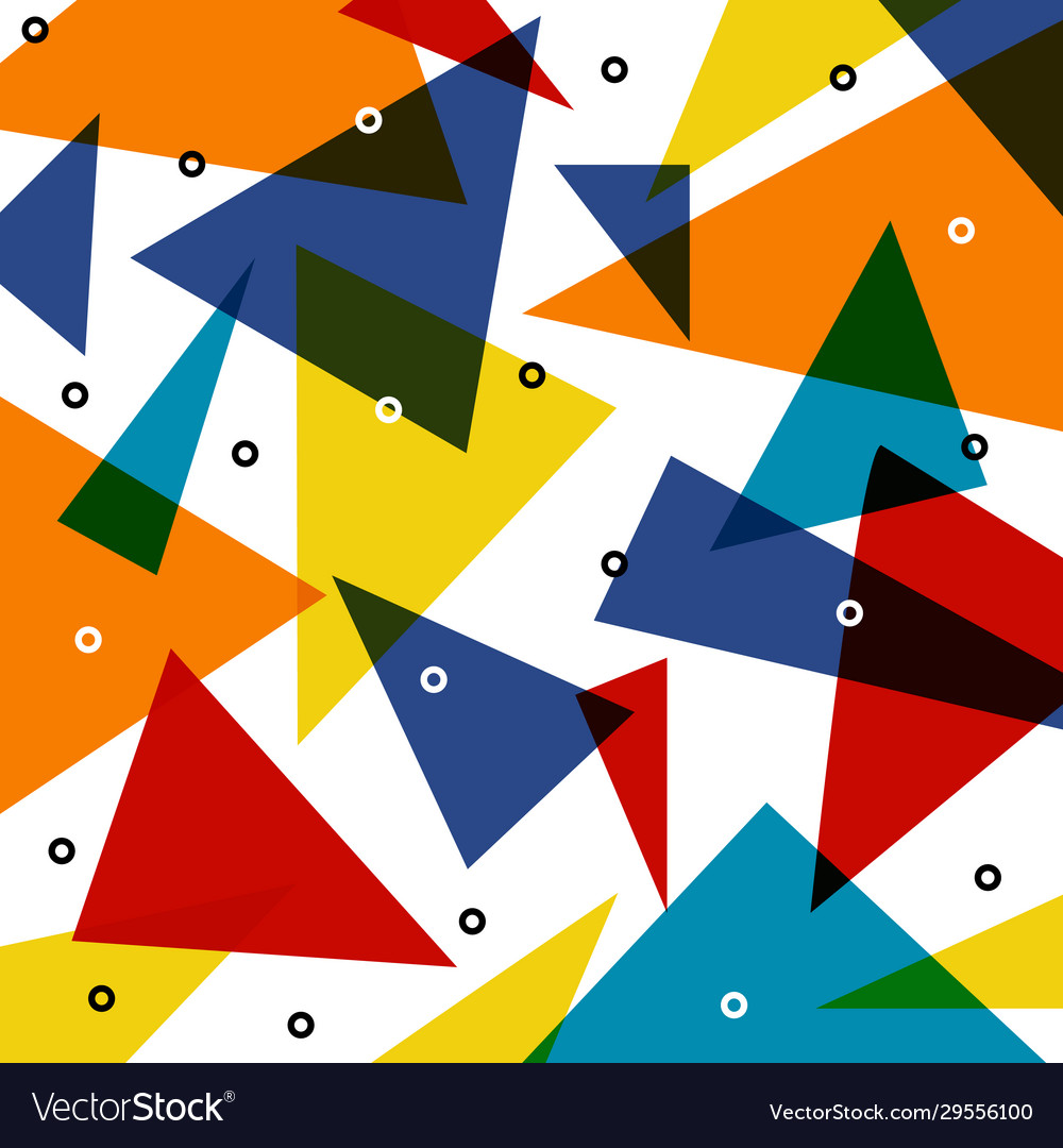 Abstract colorful triangle pattern overlap