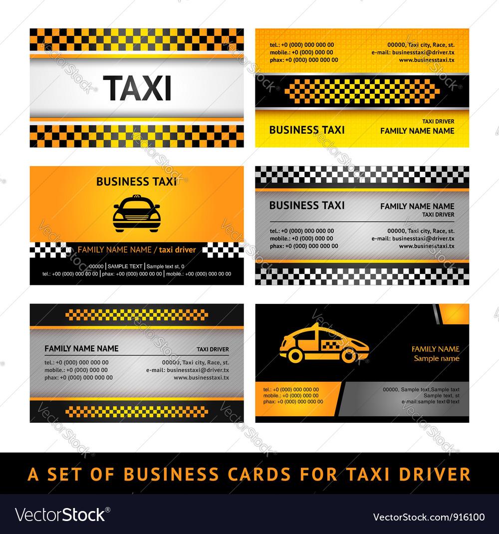 Business card taxi fourth set royalty free vector image business card taxi fourth set vector image colourmoves