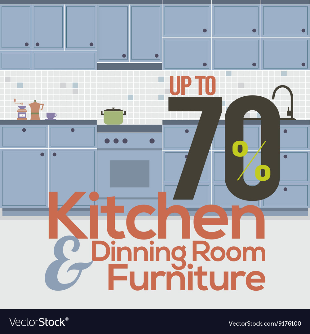 Kitchen Room Sale Up to 70 Percent Banner
