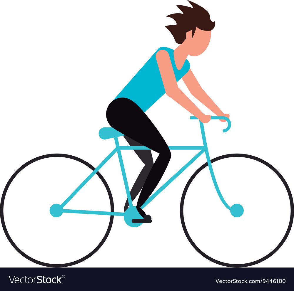 person riding bike royalty free vector image vectorstock rh vectorstock com biker vector biker vector free