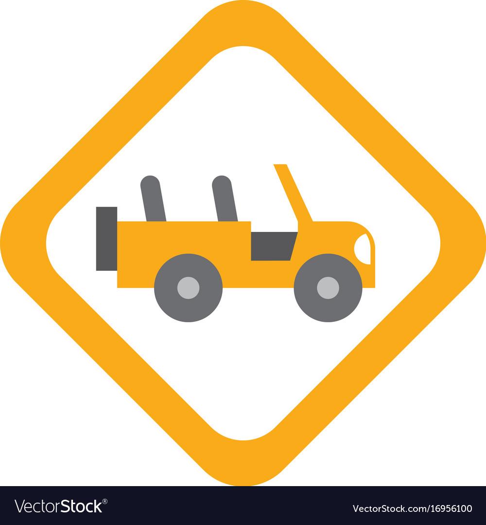 Safari vehicle road sign