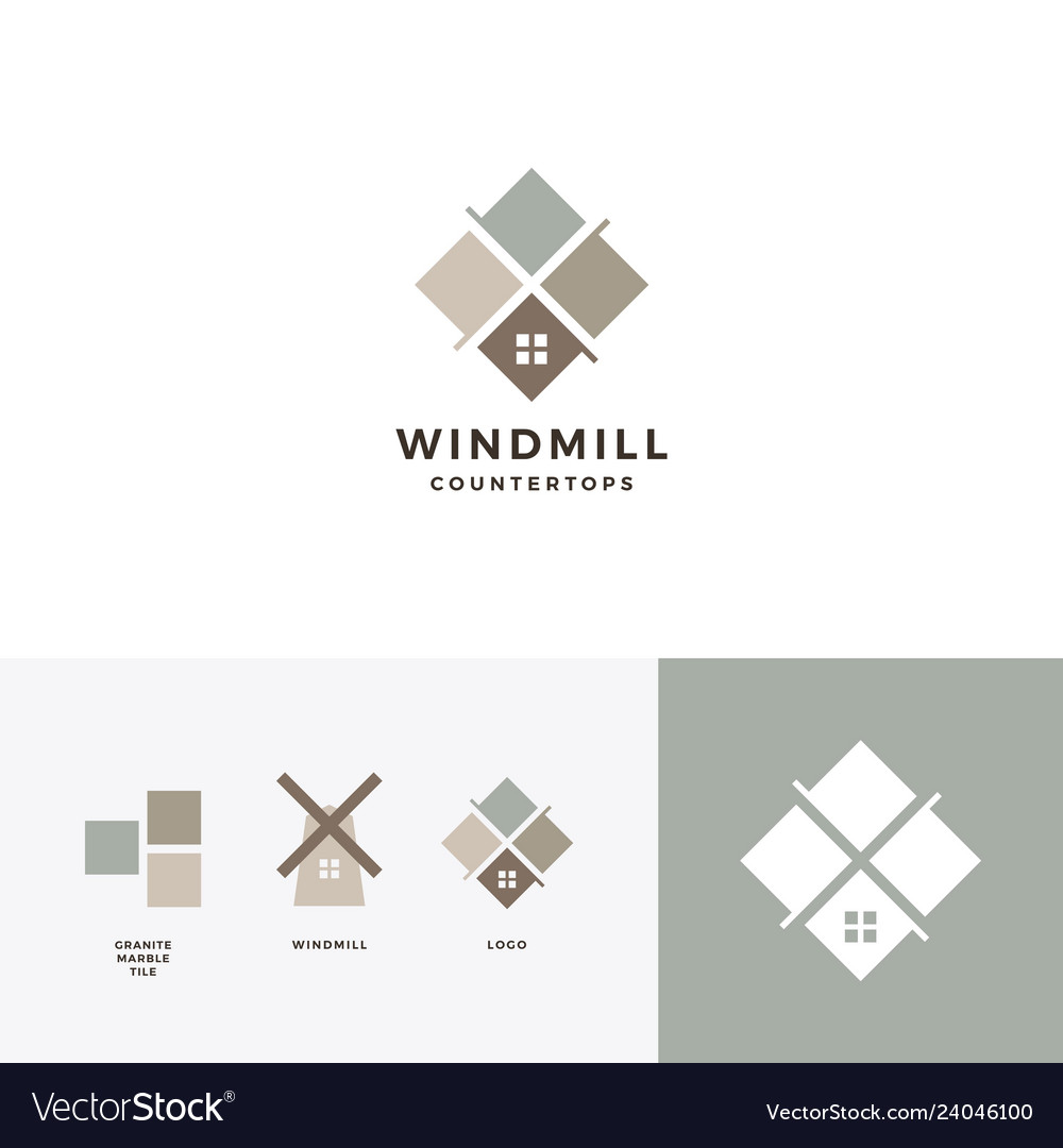 Windmill tile granite and marble countertop logo