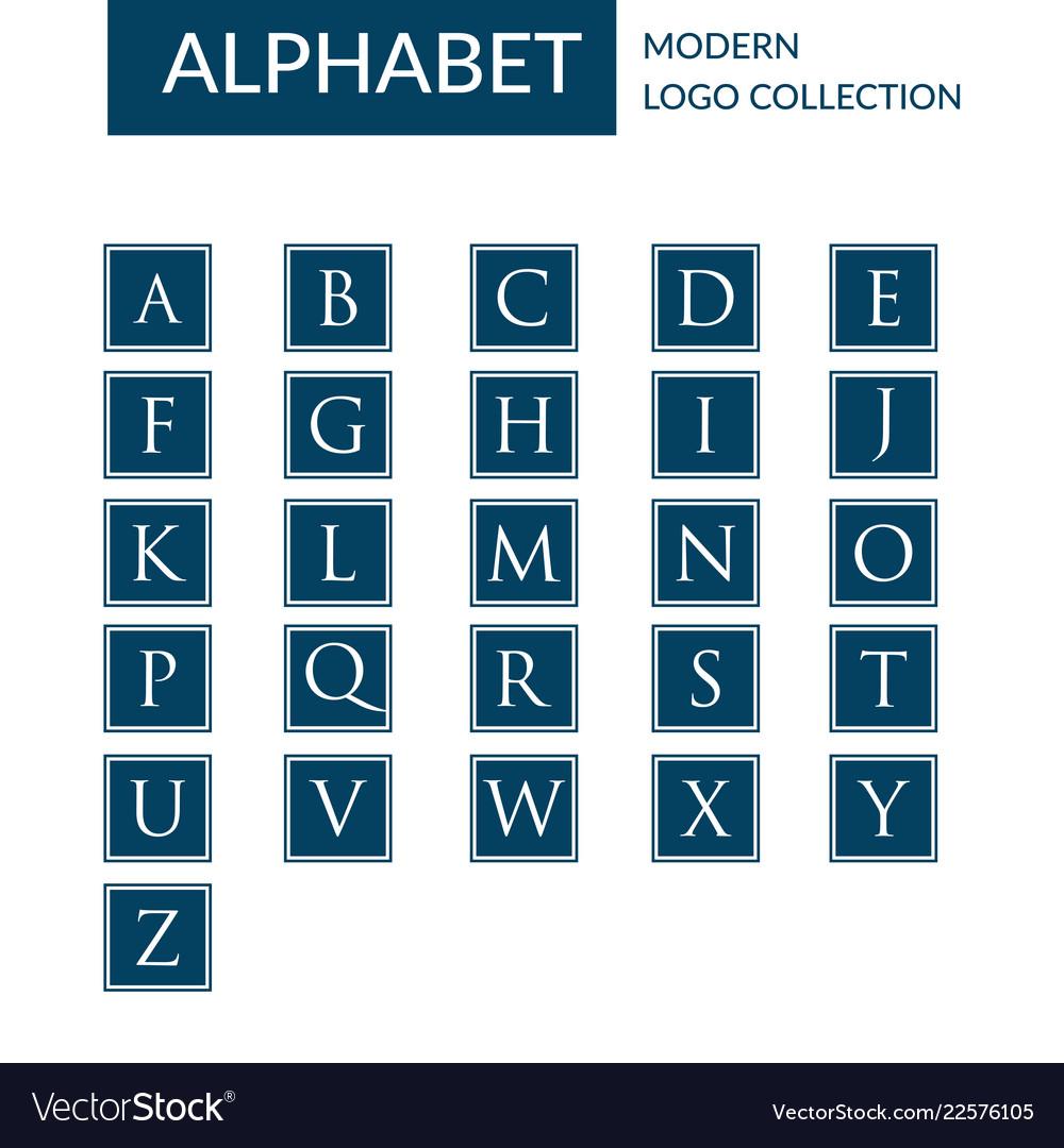 Alphabet logo template collection