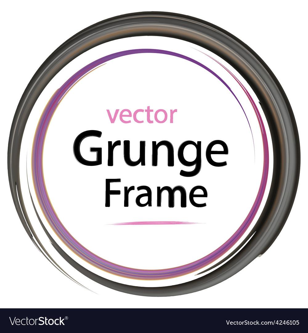 Grunge frame retro