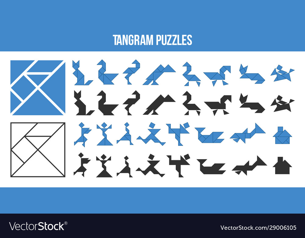 This is a photo of Printable Tangrams Pdf Free within tangram puzzle