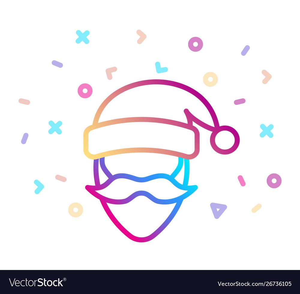 Santa claus icon christmas and new year symbol