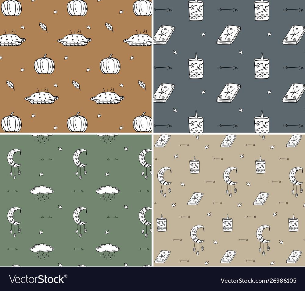 Set 4 autumn pattern