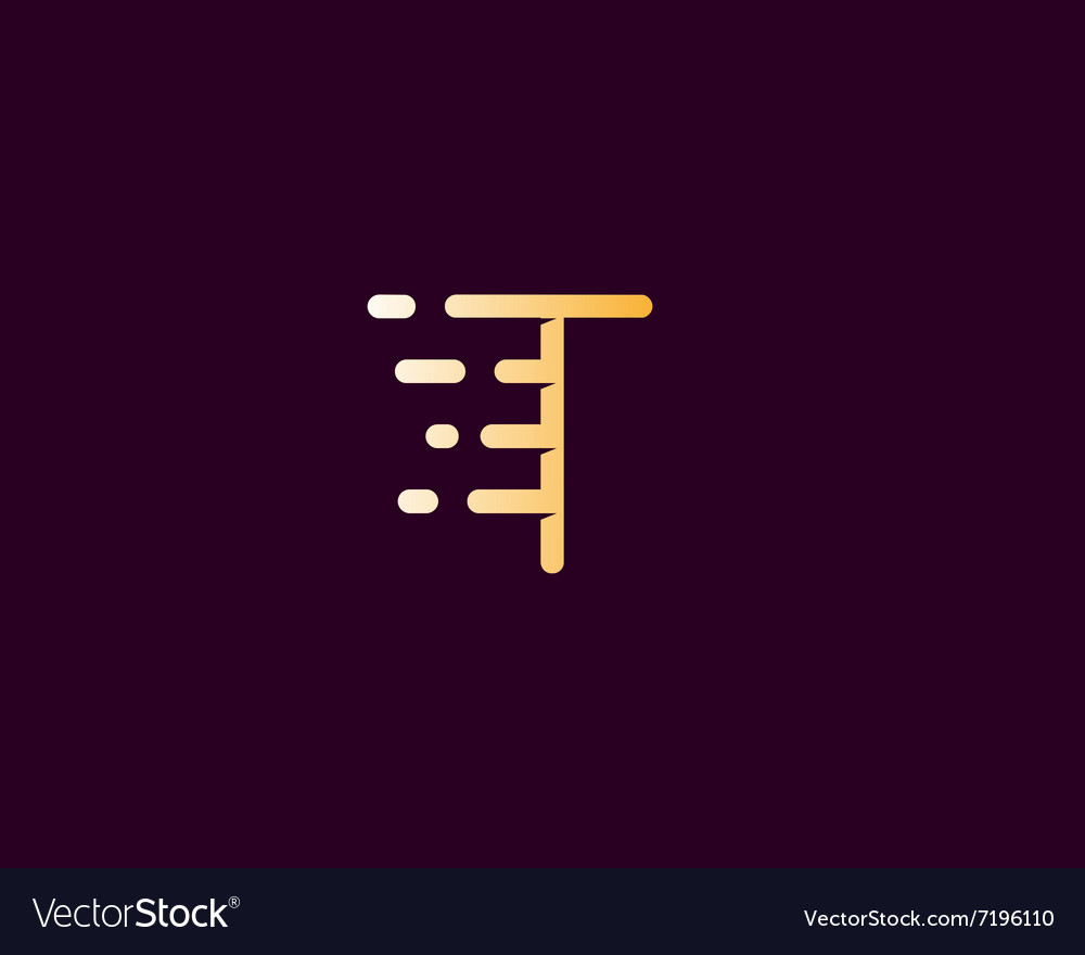 Abstract letter T logo design template Dynamic