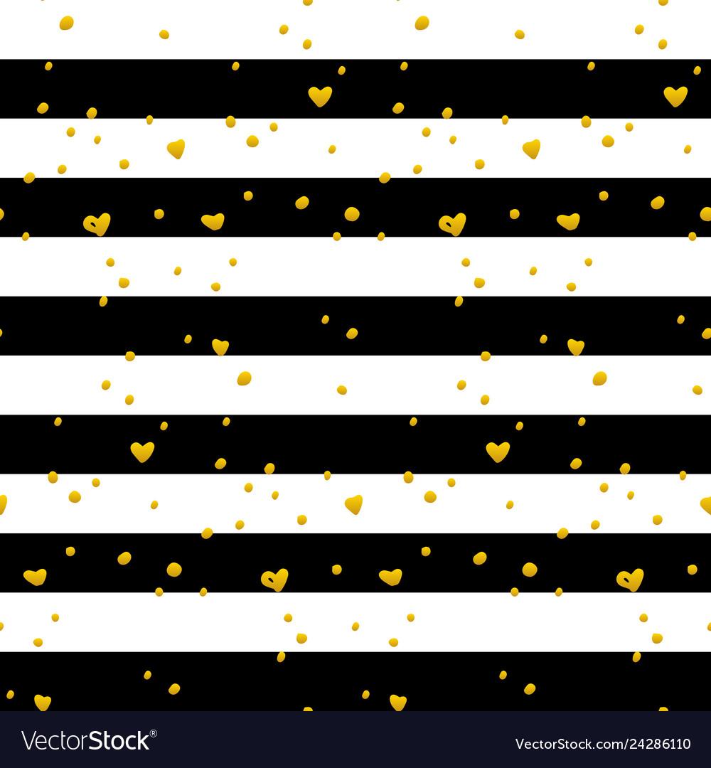 Black gold striped seamless pattern