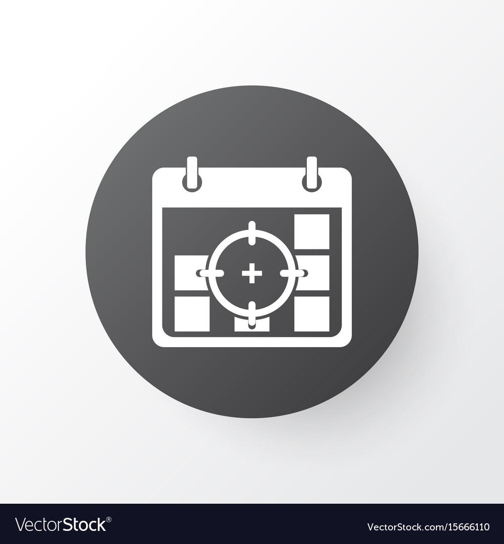 Business goals icon symbol premium quality