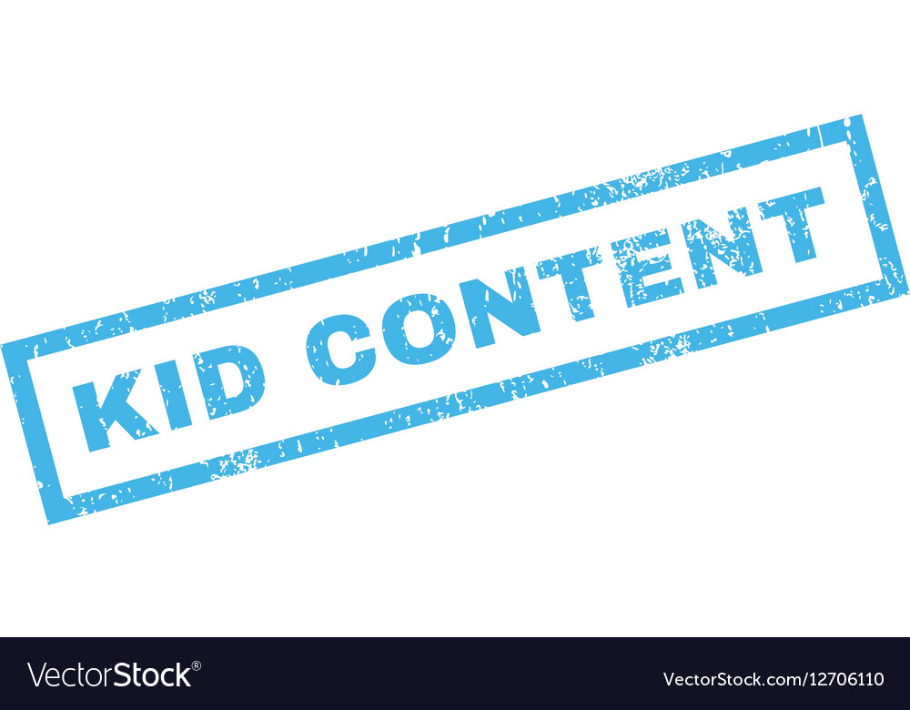 Kid Content Rubber Stamp Vector Image