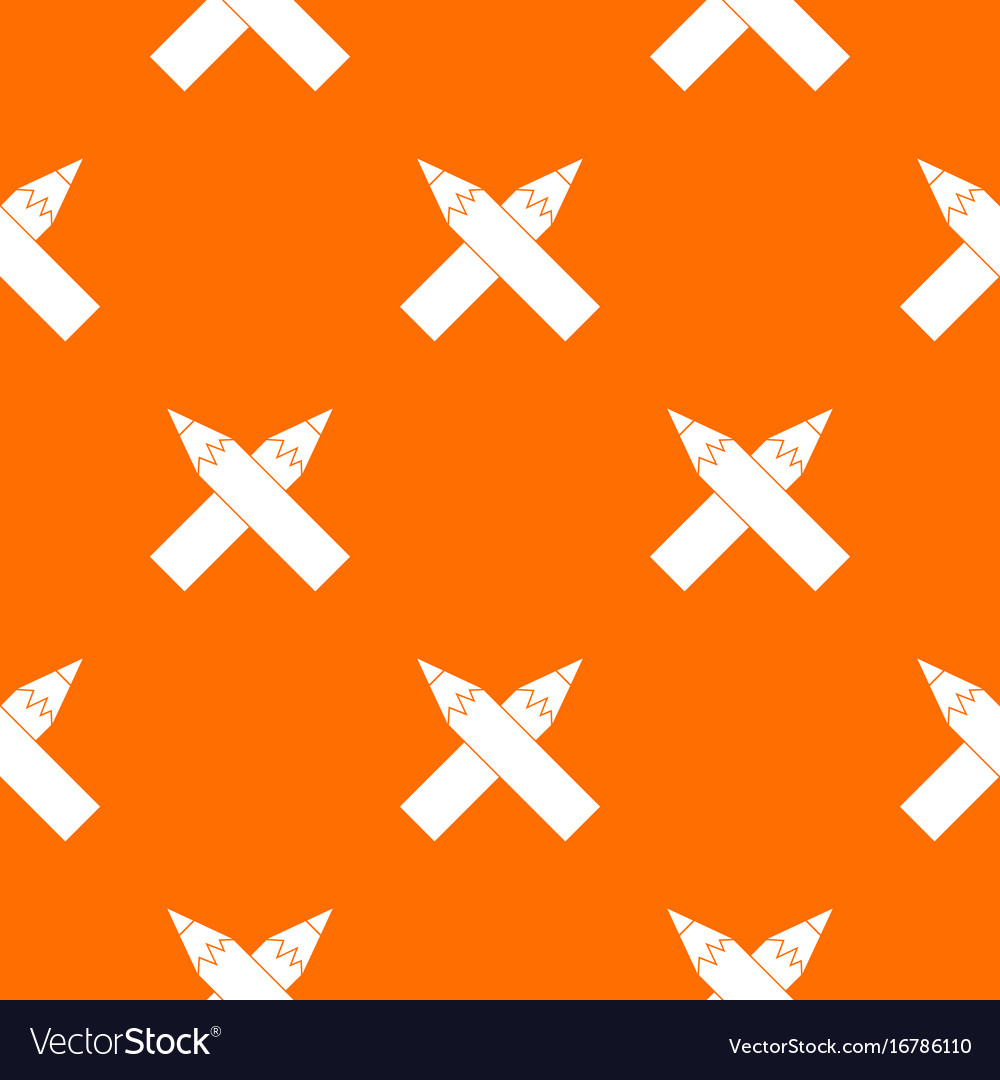 Two crossed pencils pattern seamless vector image
