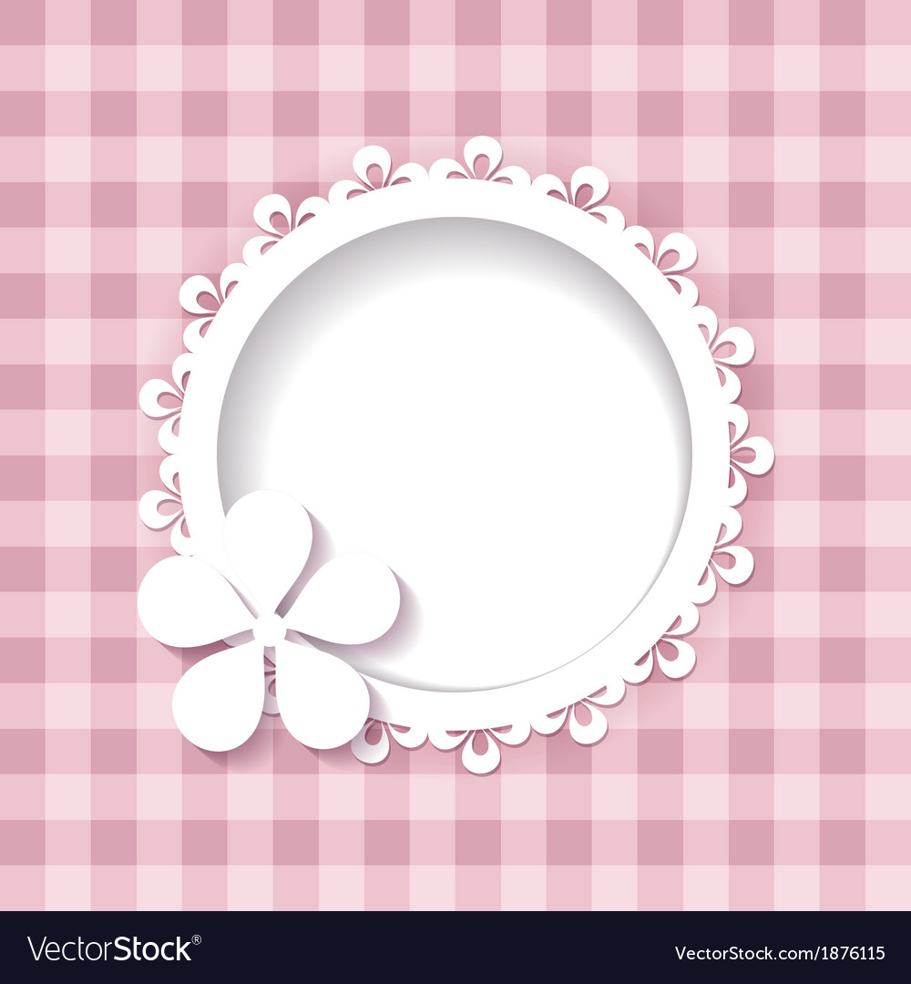A frame and a flower on the pink background