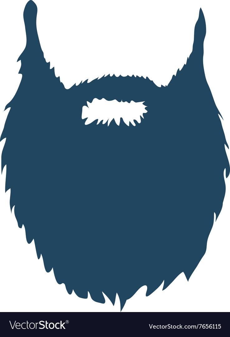 Beard isolated on white background