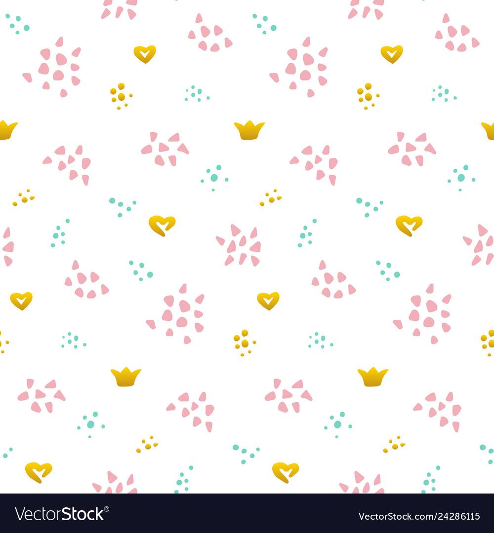 Cute grunge seamless pattern