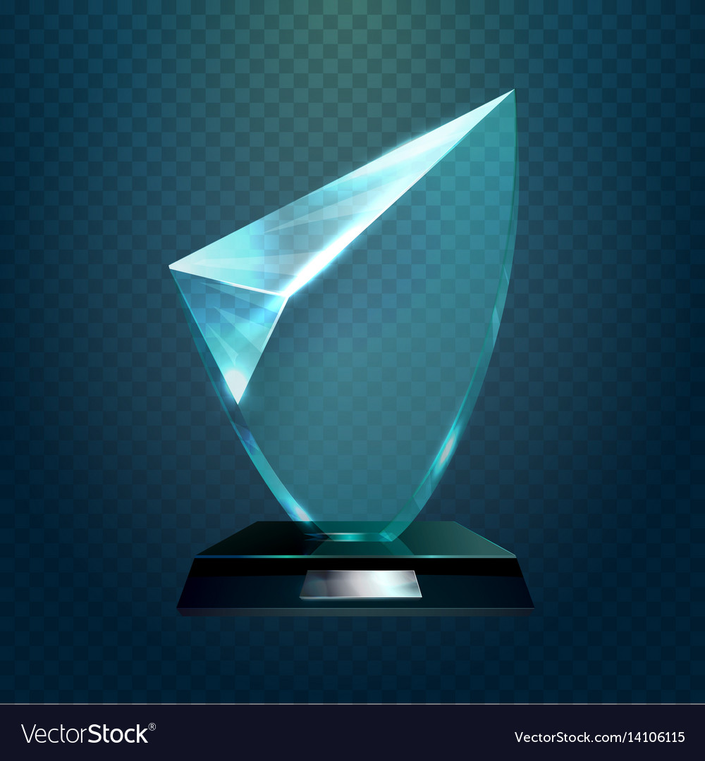 Glass Trophy Or Cup Champion Blank Prize Vector Image