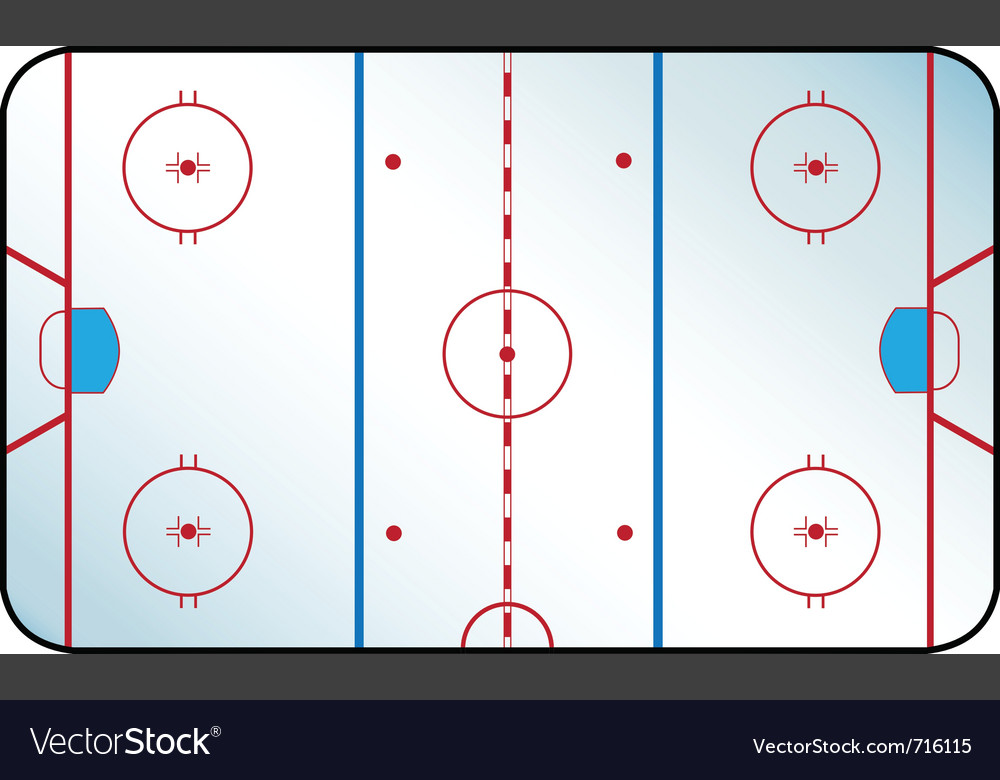 Hockey rink vector image
